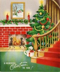 1000+ images about holiday: Christmas Fireplace on ...