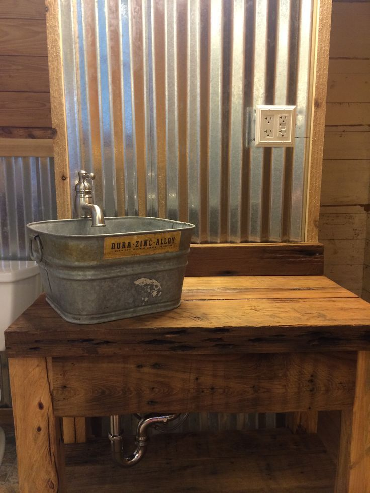 galvanized bathroom wall  Google Search  For the Home