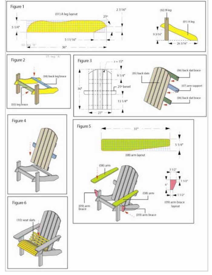adirondack chair blueprints motorized chairs for elderly plans template woodworking projects