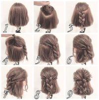 17 Best ideas about Half Braided Hairstyles on Pinterest ...