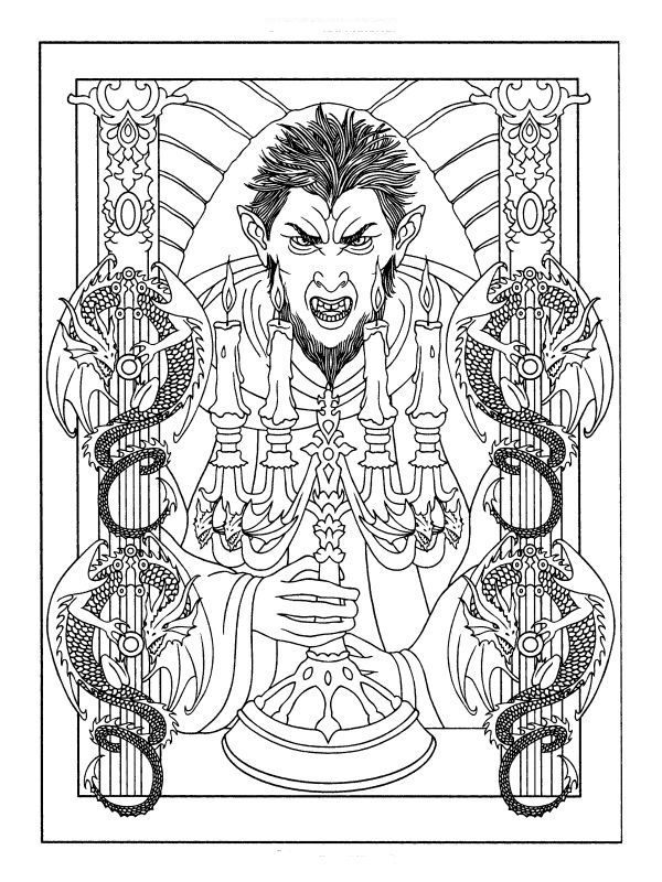 59 best images about horror on pinterest  coloring pages