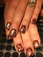 copper with black stripes and white