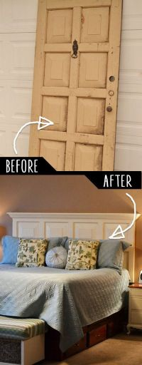 25+ best ideas about Old door headboards on Pinterest ...