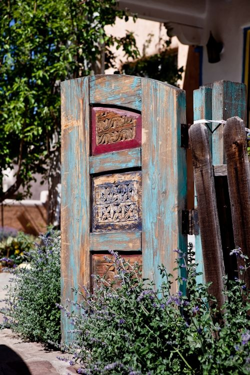 17 Best images about Garden Gates  New Mexico Style on Pinterest  Courtyard entry Adobe and