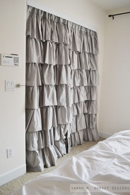 25 Best Ideas About Closet Door Curtains On Pinterest Curtain