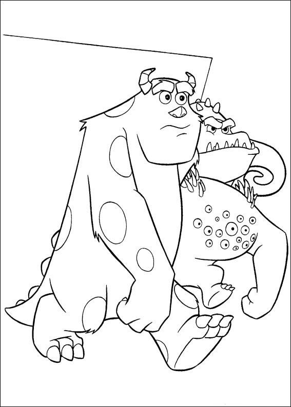49 best images about Monster Inc Coloring Pages on Pinterest