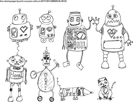 48 best Robot Coloring Pages images on Pinterest