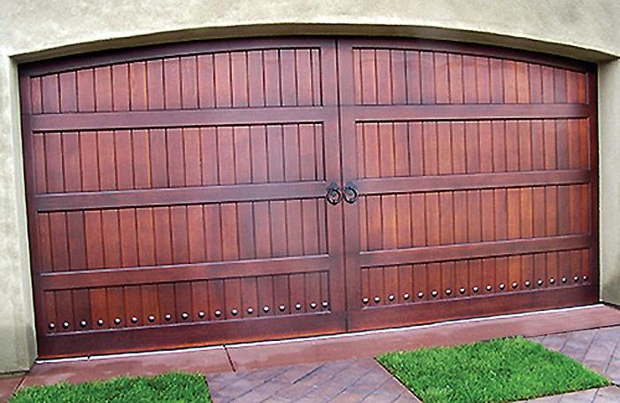 Arched Wood garage door in San Diego  San Diego Garage Doors  Pinterest  Wood garage doors
