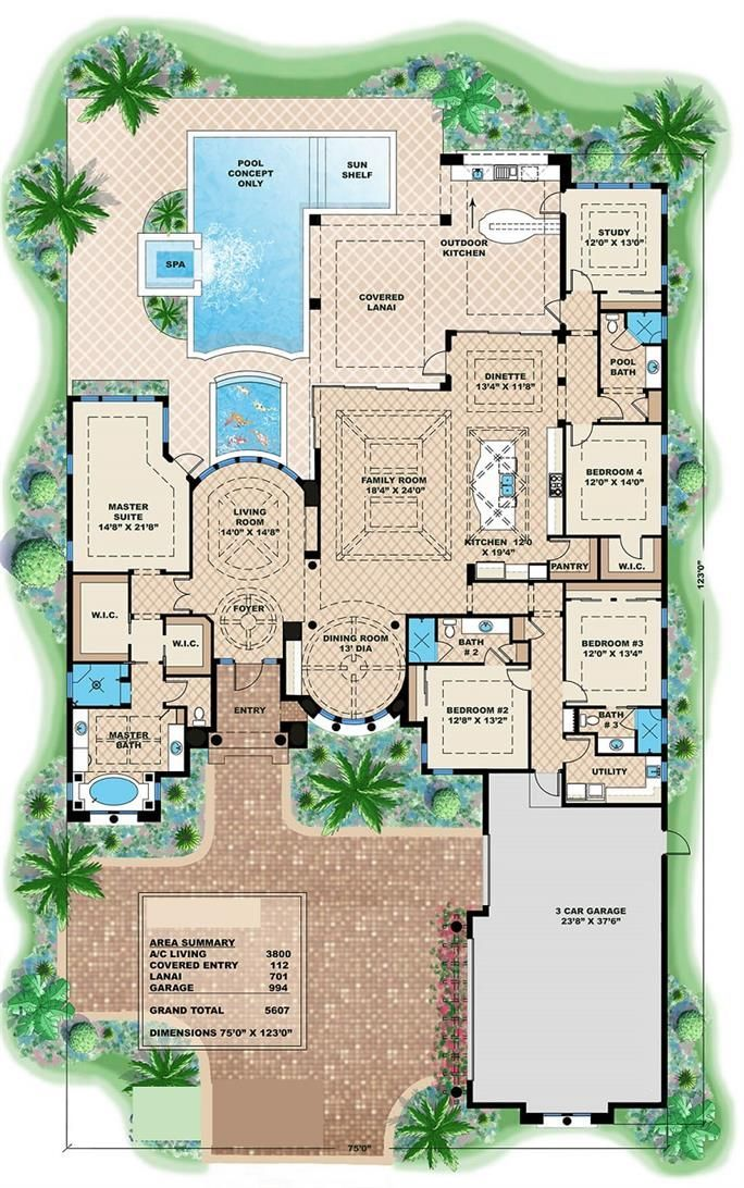 25+ best ideas about Luxury home plans on Pinterest