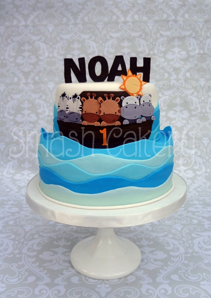 Noah S Ark Birthday Cake All Fondant Celebration Cakes