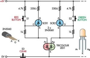 LED Noughts And Crosses Circuit Diagram   v good ccts