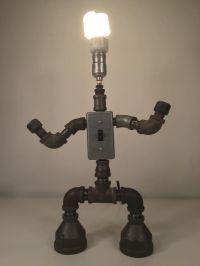 By industro Rustro - Steampunk ROBOT Desk Lamp Light ...