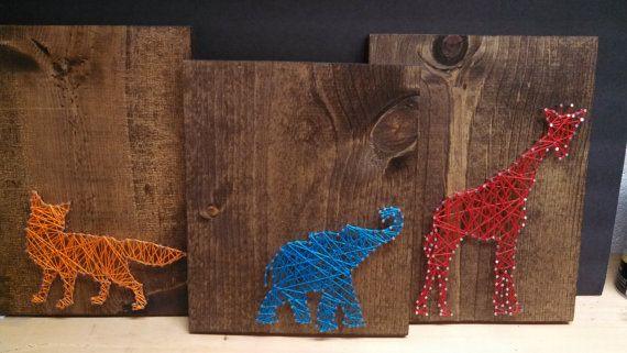 Animal string art on Etsy 2500  String art  Pinterest  Animals String art and Art