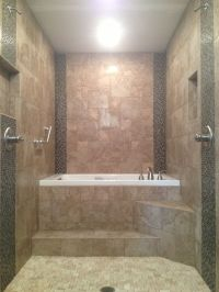 Master Bathroom renovation. Walk through dual head shower ...