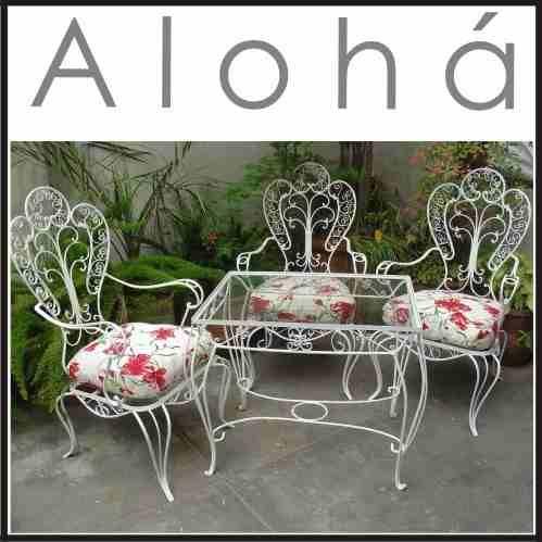 restauraci n juego de jardin de hierro antiguos sillon mesa capital  Exteriores  Pinterest  Mesas