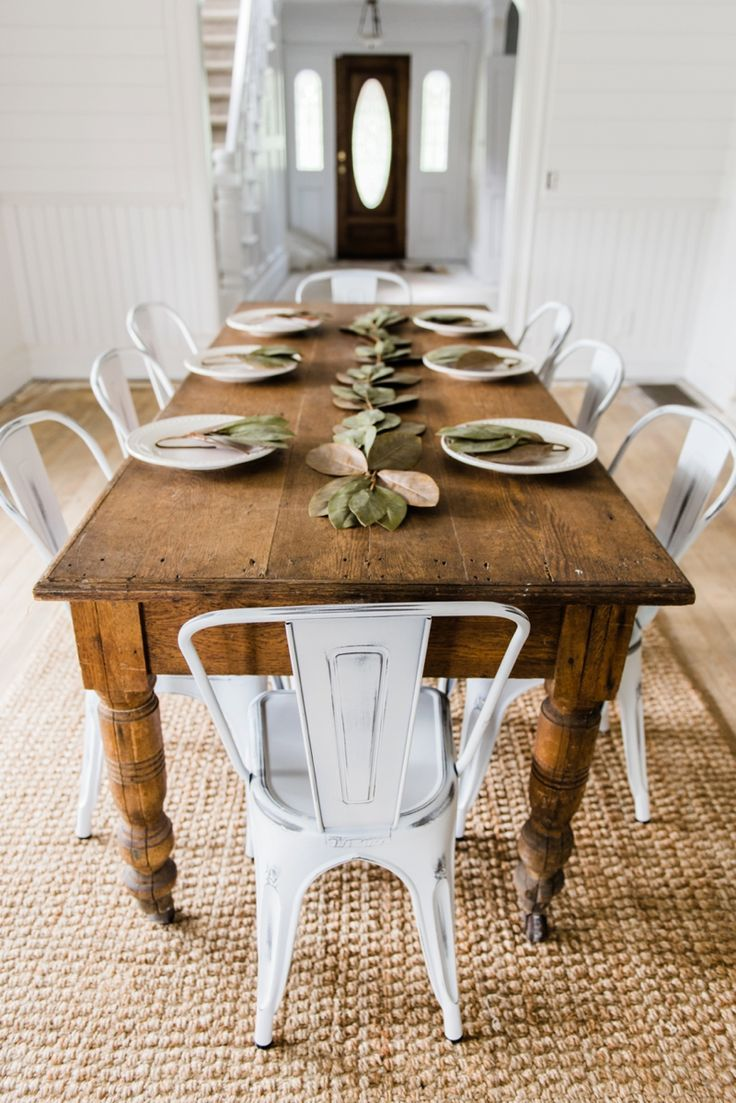17+ best ideas about Farmhouse Table Chairs on Pinterest