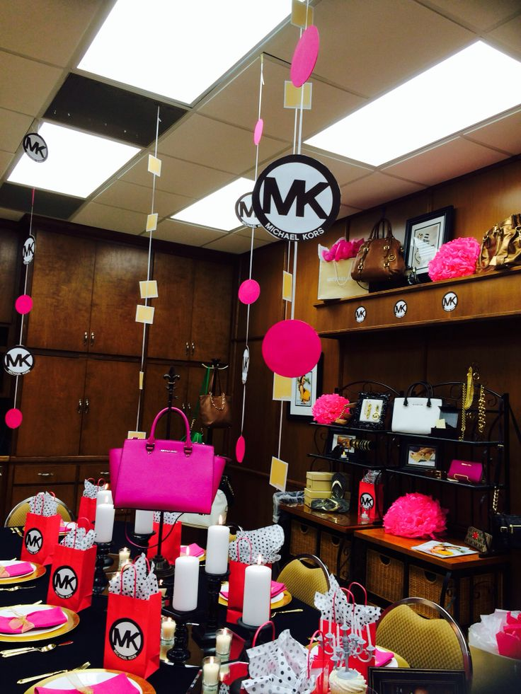 Michael Kors party theme in black gold and fuchsia  Event Ideas  Pinterest  Black gold