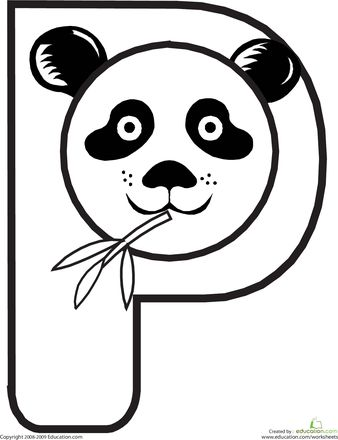 Worksheets: Animal Alphabet: P: Alphabet Coloring Pages