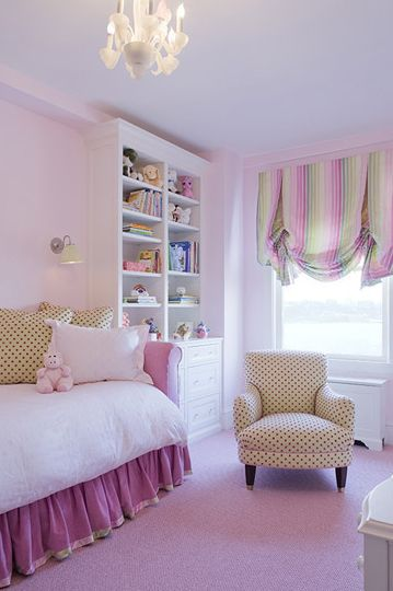 big girl room pink + green