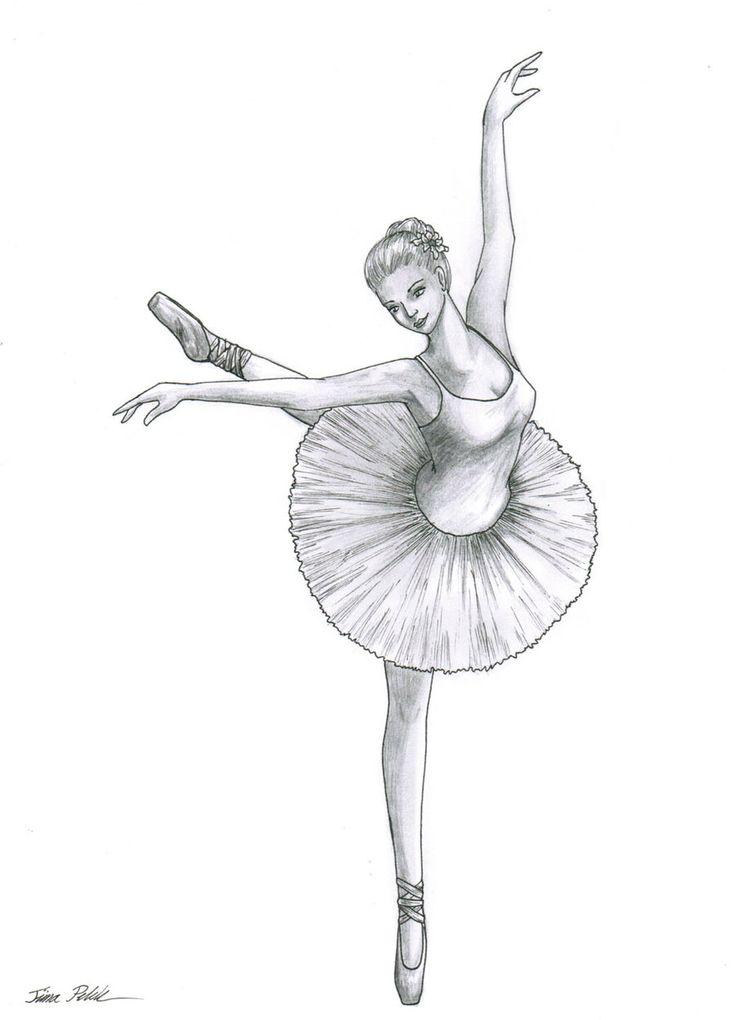 25+ best ideas about Ballerina drawing on Pinterest