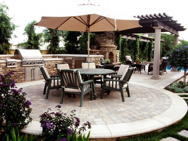 Backyards, Stone Columns And