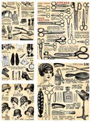 set vintage hairdresser