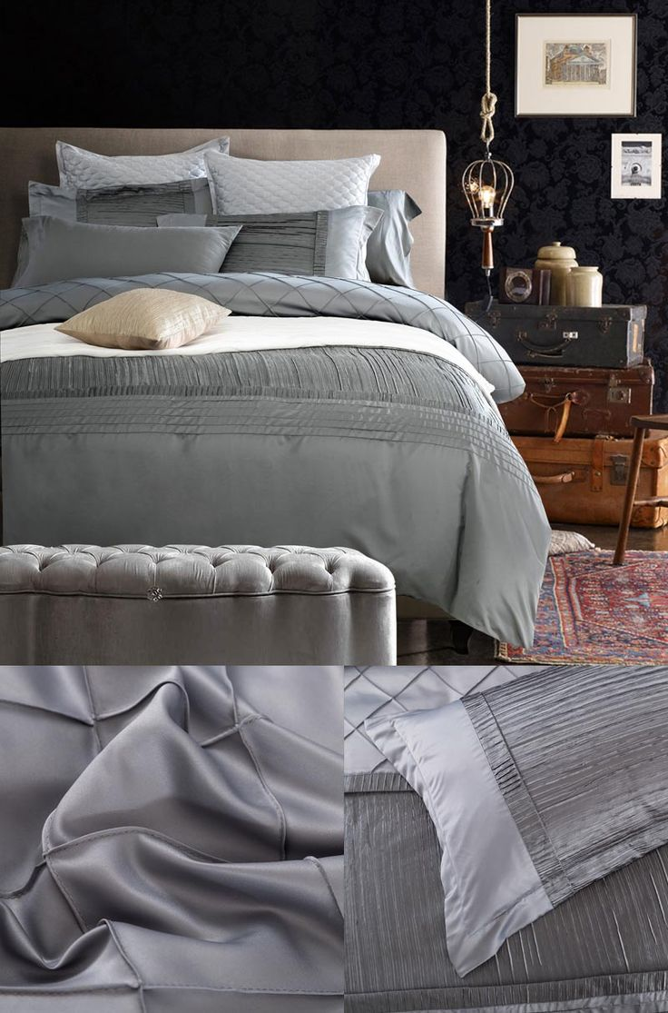 10 ideas about Silk Bedding on Pinterest  Comfy bed