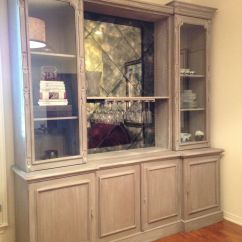 Kitchen Buffet Hutch Tile For Custom Oak Wall Unit. Limed Finish, Painted In Chalk ...