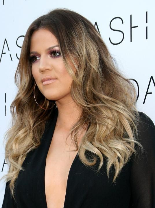 Khloe Kardashian ASH BLONDE OMBRE Beauty Pinterest