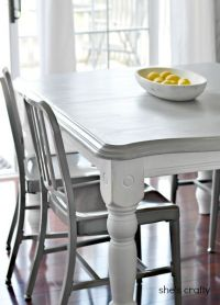 25+ best ideas about Painted kitchen tables on Pinterest