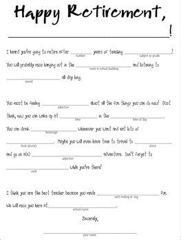 Retirement Booklet Class Gift for Retiring Teachers {Fill