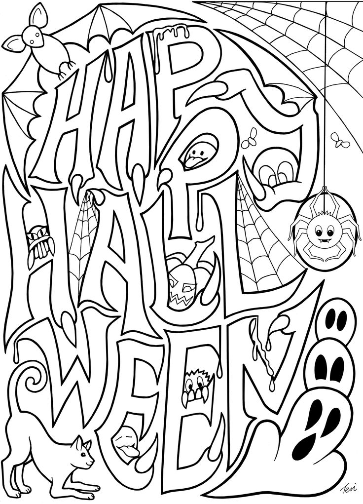 25+ best Halloween Coloring Pages ideas on Pinterest