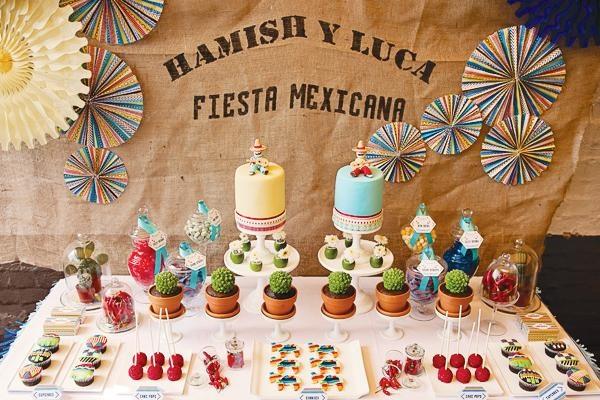 Fiesta De Cumpleaños Mexicana Para Gemelos Mesas And Fiestas