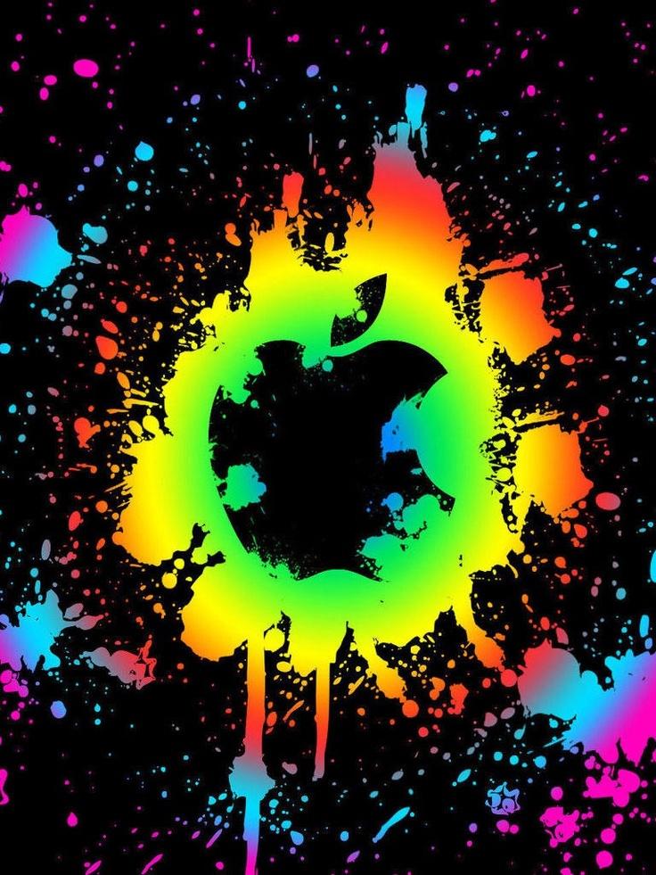 Burberry Wallpaper Iphone X Rainbow Apple Cool Wallpaper For A Phone Pinterest