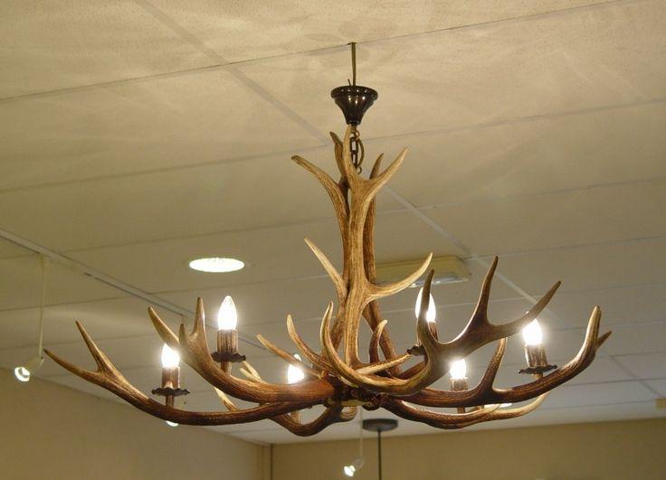 gewei lamp  Home  Pinterest  Lampen Verlichting en Entree