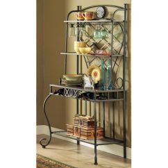Kitchen Tool Holder Design Ideas Images Steve Silver Company Hamlyn Marble Top Bakers Rack ...