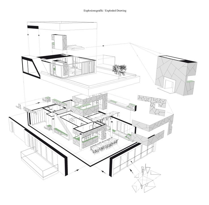 Loft Axonometric Drawing