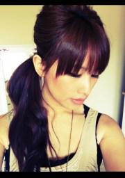 deep purple hairstyle hair