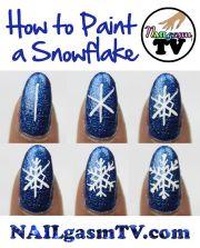 paint snowflake. watch