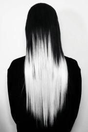 black white hair ideas