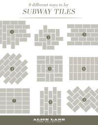 Best 25+ Subway tile patterns ideas on Pinterest
