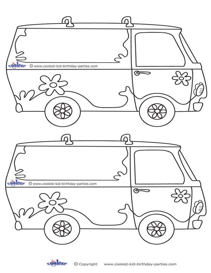 Blank Printable Mystery Van Invitations Coolest Free