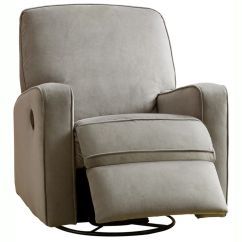 Toys R Us Chairs Chaise Lounge For Living Room Colton Gray Fabric Modern Nursery Swivel Glider Recliner Chair   Shopping, And The O'jays