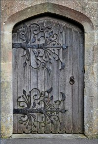 Beautiful Rustic Door. Absolutely love the hardware design ...