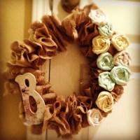 Shabby chic DIY wreath   Craft shop Ideas   Pinterest ...