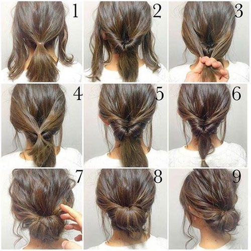 25 Best Ideas About Short Hair Updo On Pinterest Chignon Updo