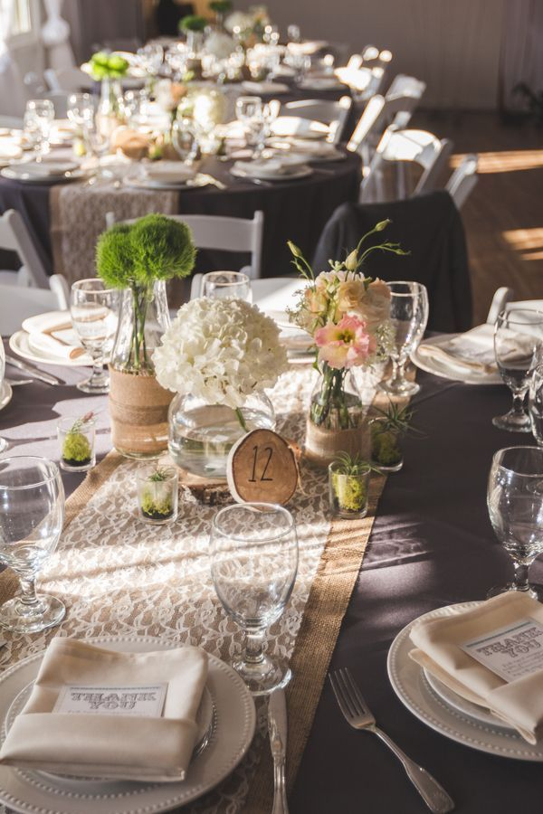 662 best images about Rustic Wedding Table Decorations on Pinterest