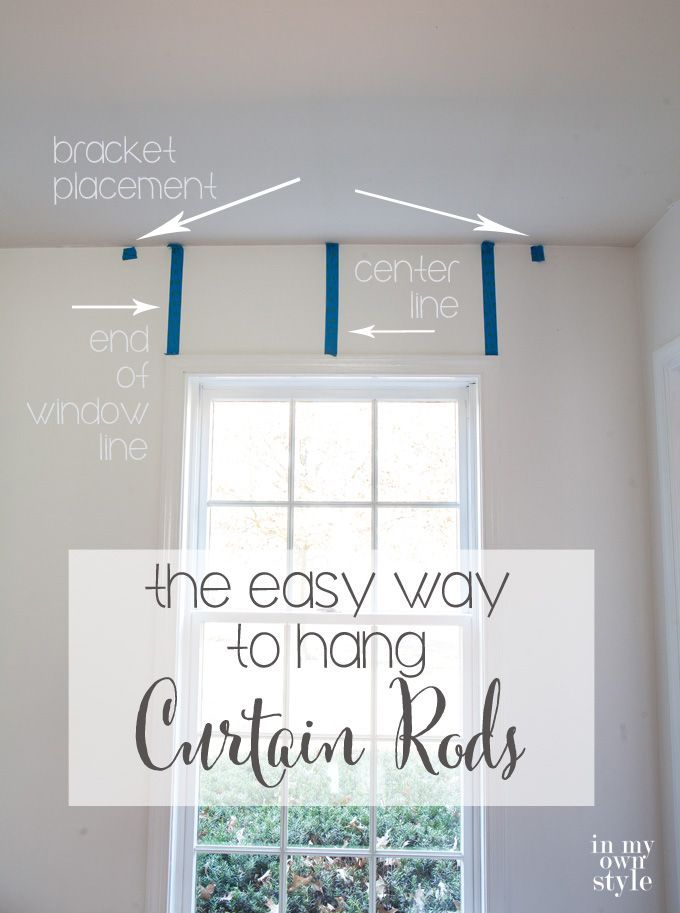 25 Best Ideas About Hanging Curtain Rods On Pinterest Hang