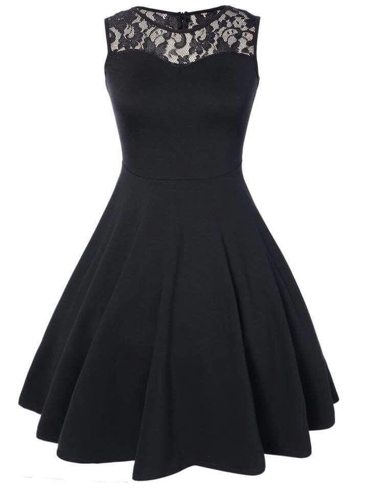 Jcpenney Black Lace Dress Short