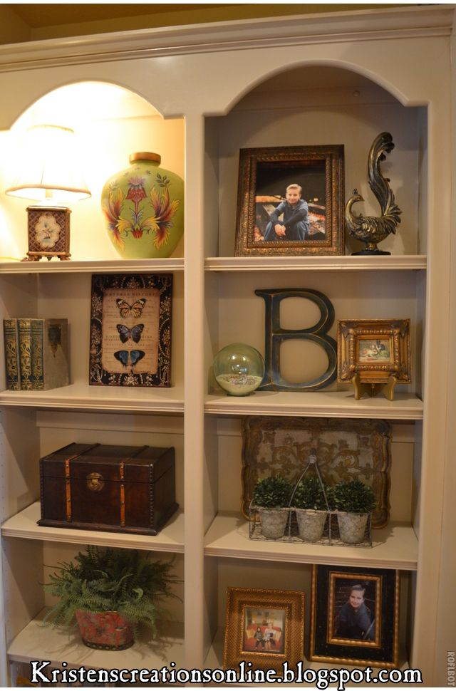 Great tips for accessorizing bookcases although there